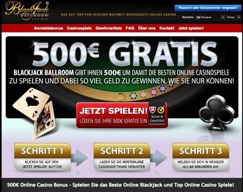 Gratis Casino Freispiel in Blackjack Ballroom